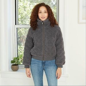 Knox Rose quilted Sherpa jacket NWT